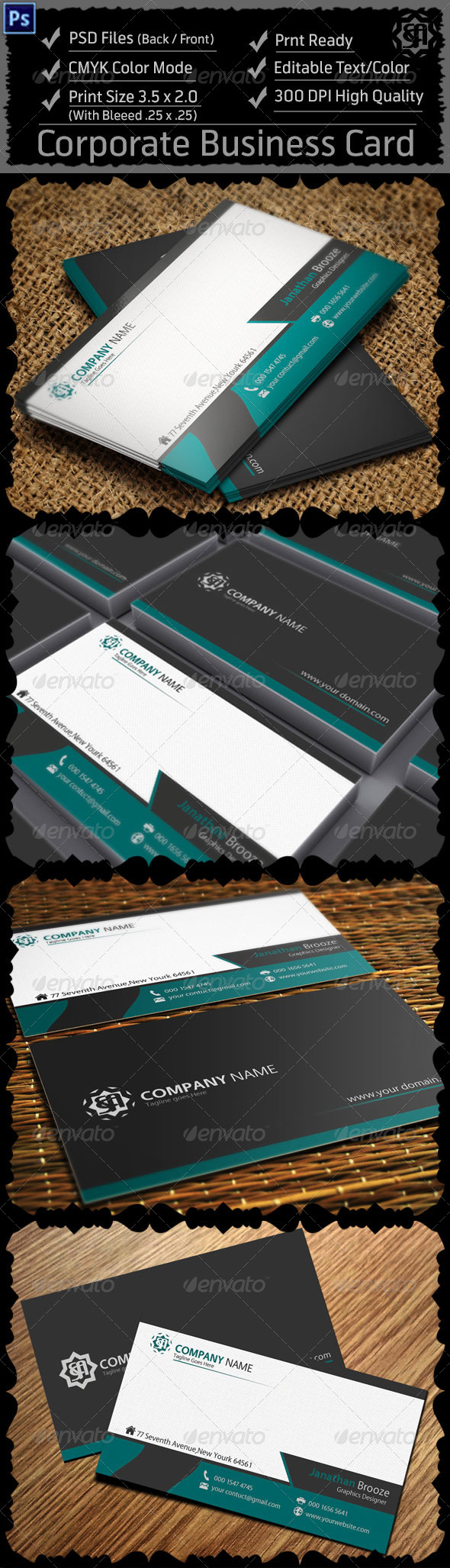 GraphicRiver Corporate Business Card 8242427