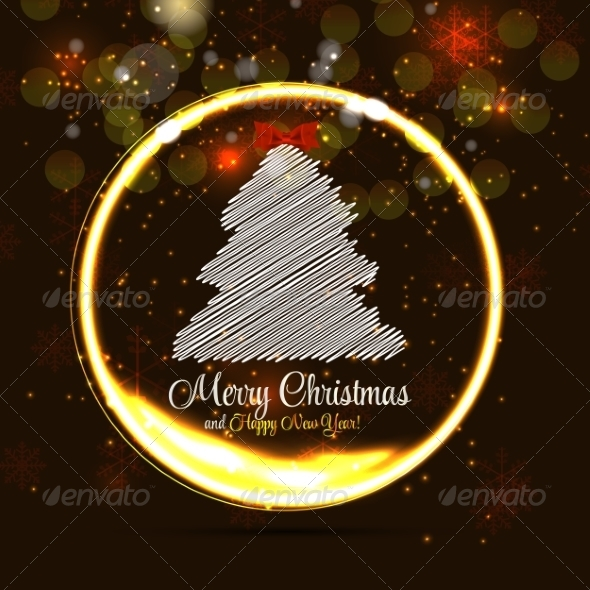 GraphicRiver Abstract Christmas and New Year Background 8302399