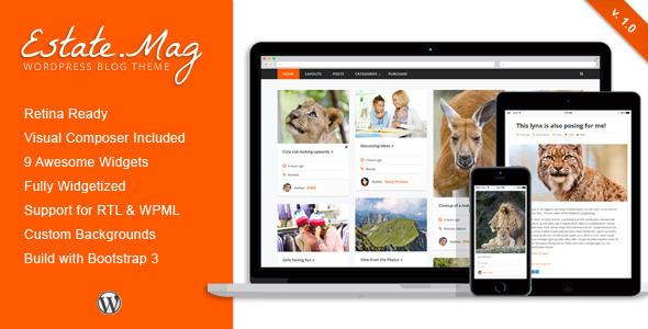 ThemeForest EstateMag Responsive Wordpress Blog Theme 8302401