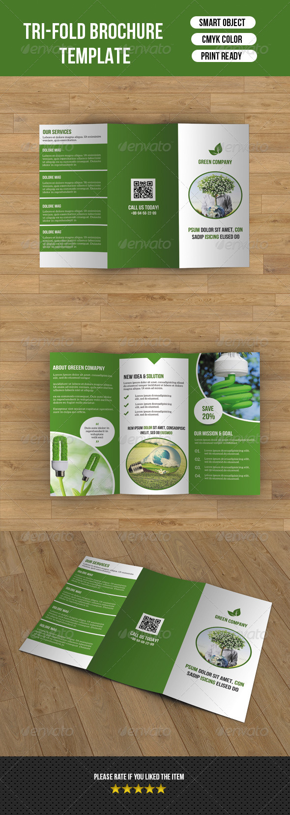 GraphicRiver Green Company Brochure 8302491