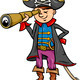 pirate boy cartoon illustration - PhotoDune Item for Sale