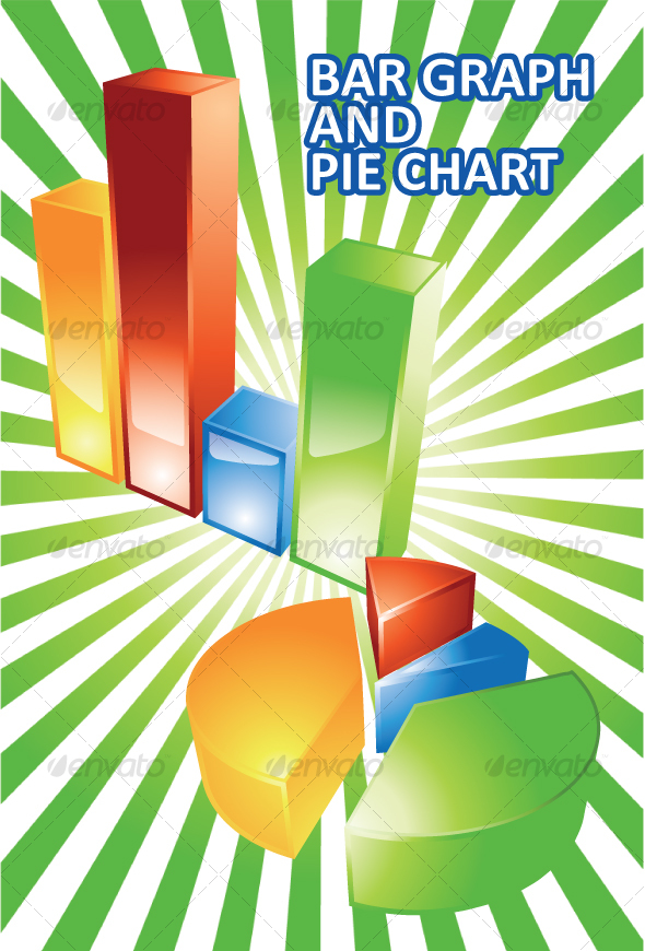 Graphic River Glossy 3D Bar Graph and Pie Chart Vectors -  Conceptual  Business  Concepts 35349