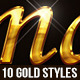 10 Gold Text Effects - GraphicRiver Item for Sale