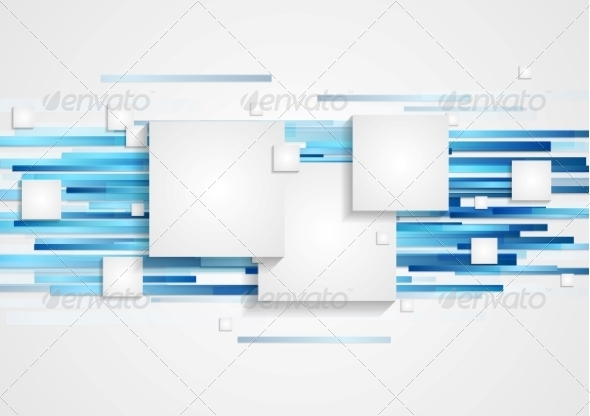 GraphicRiver Abstract Tech Geometry Background 8303358