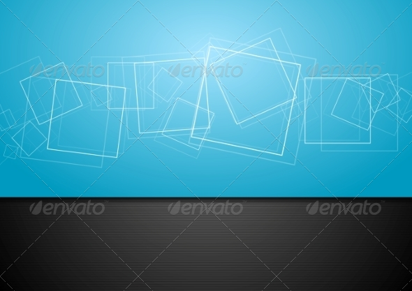 GraphicRiver Abstract Contrast Blue and Black Backdrop 8303363