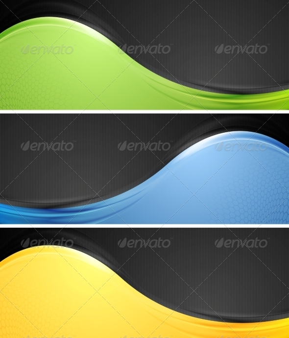 GraphicRiver Abstract Wavy Vector Banners 8303374