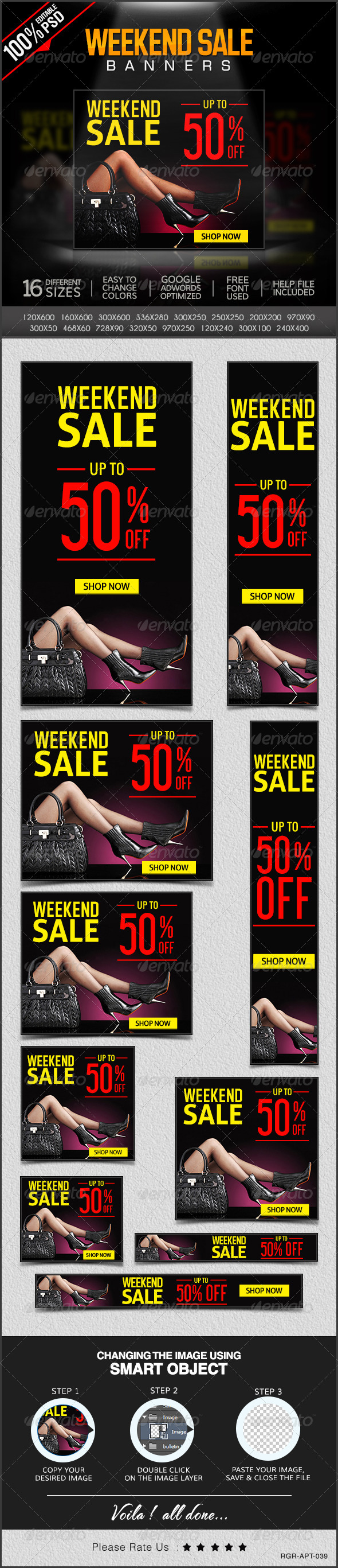 GraphicRiver Weekend Super Sale Banners 8304411