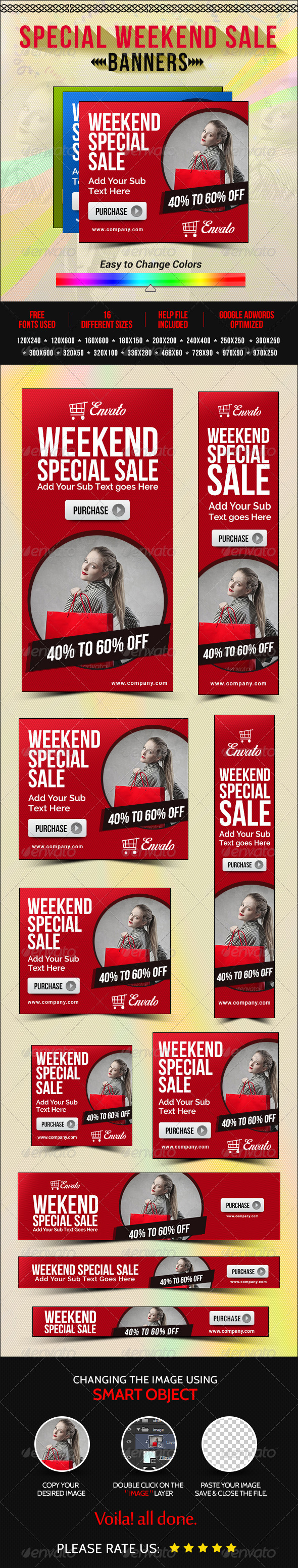 GraphicRiver Weekend Sale Banners 8304607