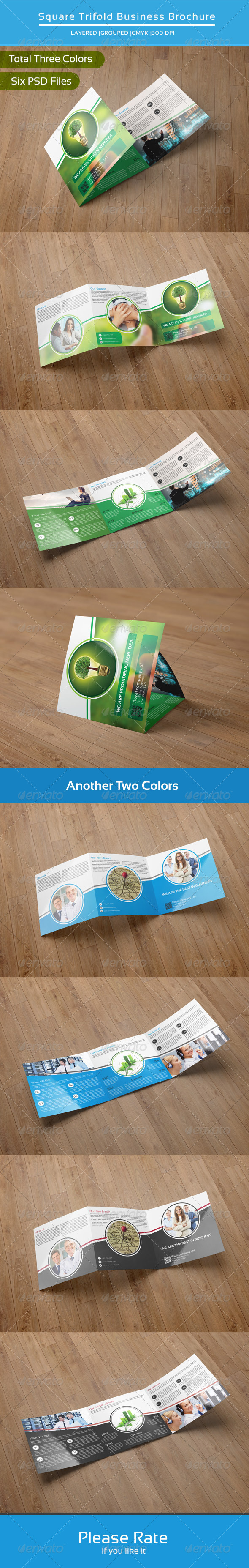 GraphicRiver Square Trifold Business Brochure-V15 8304679