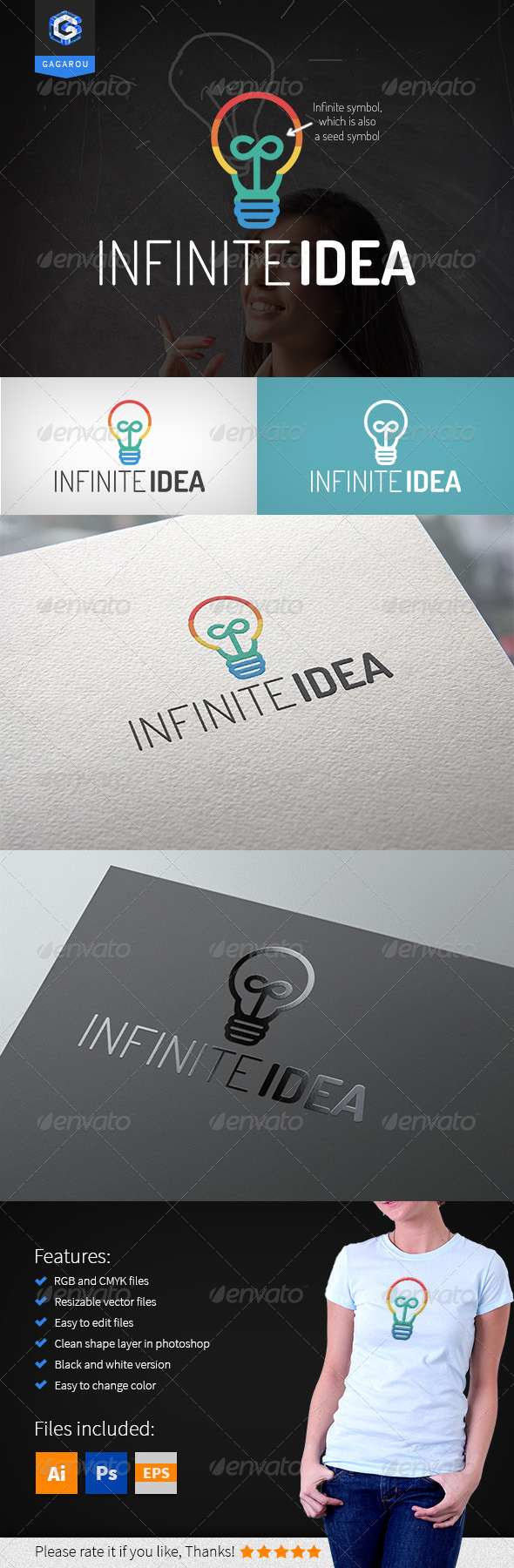 GraphicRiver Infinite Idea Logo 8304775