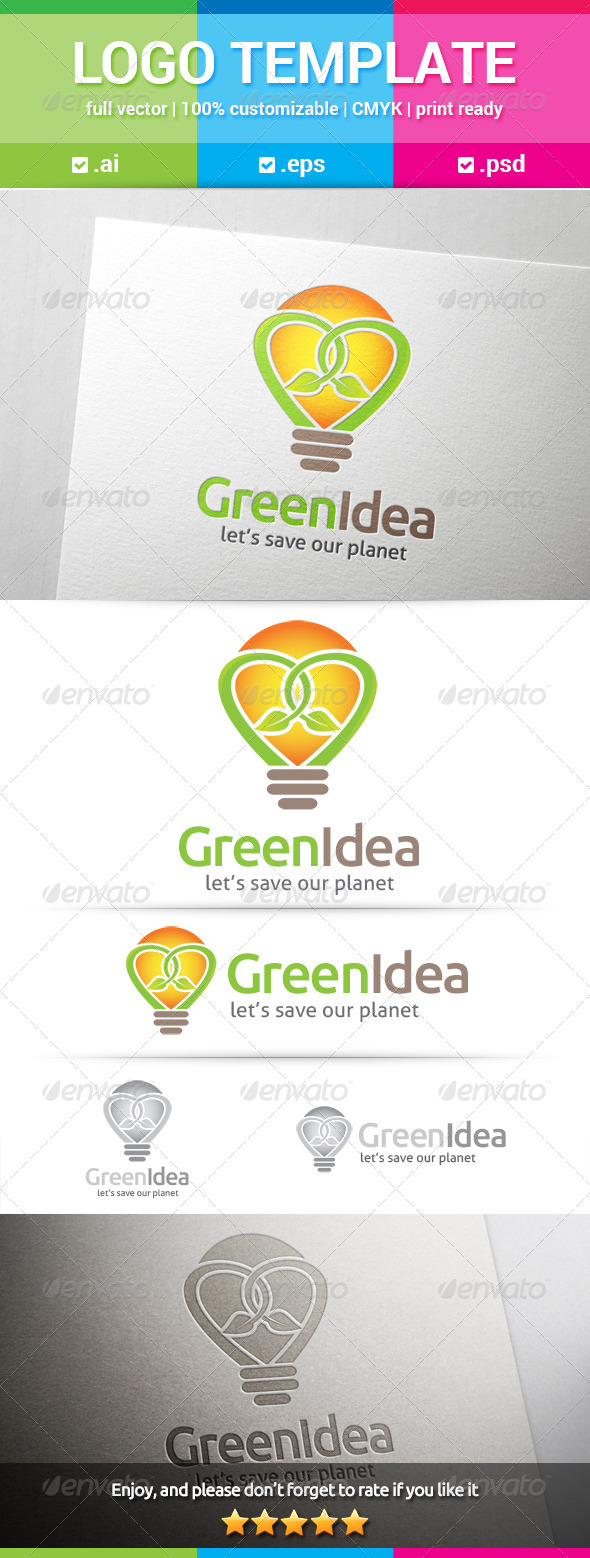 GraphicRiver Green Idea Logo 8304966