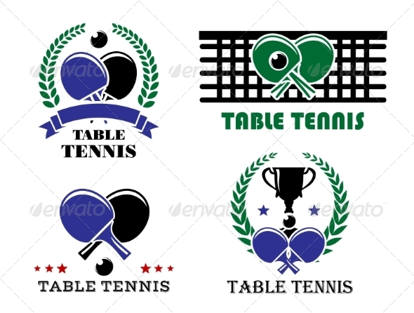 GraphicRiver Ping-Pong and Table Tennis Symbols 8304979