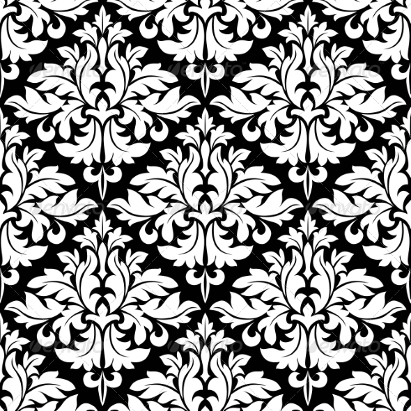 GraphicRiver Floral Seamless Damask Pattern 8305366