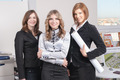 Young business group of pretty women in architectural office - PhotoDune Item for Sale