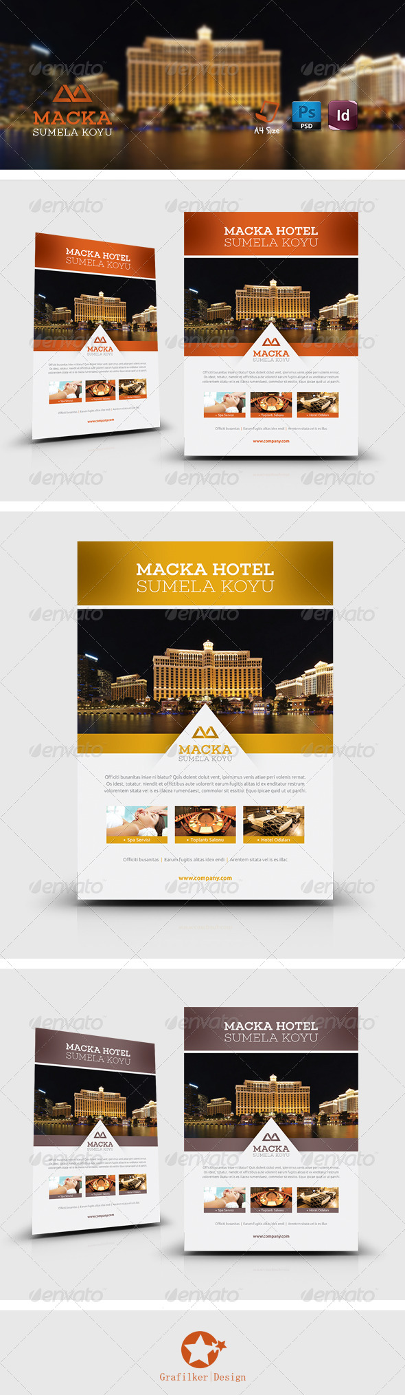 GraphicRiver Hotel Flyer Templates 8307097