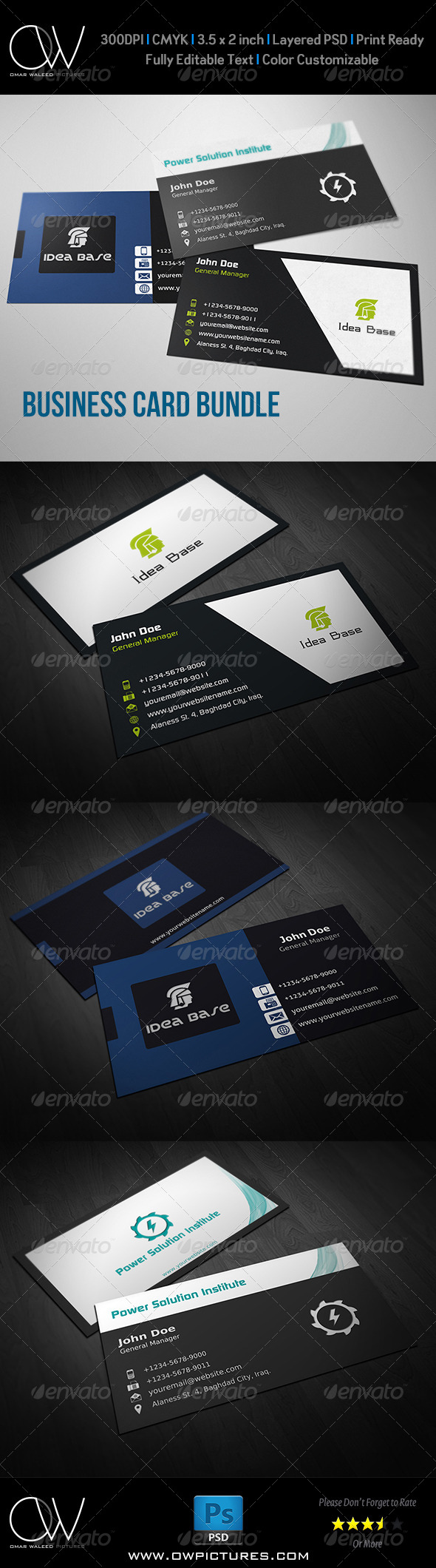 GraphicRiver Corporate Business Card Bundle Vol.2 8307176