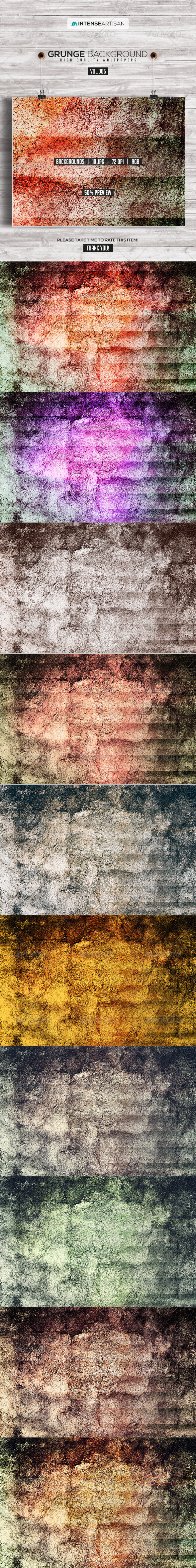 GraphicRiver 10 Grunge Background Vol.5 8307489