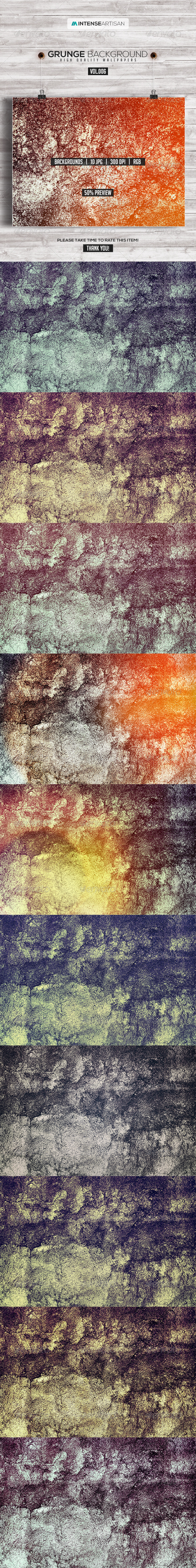 GraphicRiver 10 Grunge Background Vol.6 8307670
