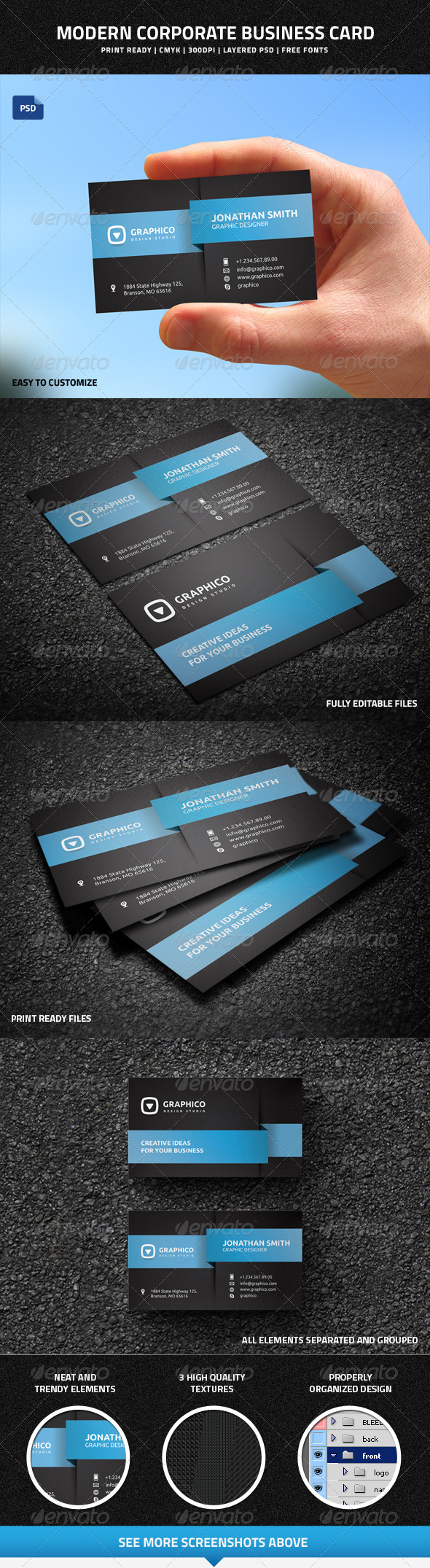 GraphicRiver Modern Corporate Business Card 8307829