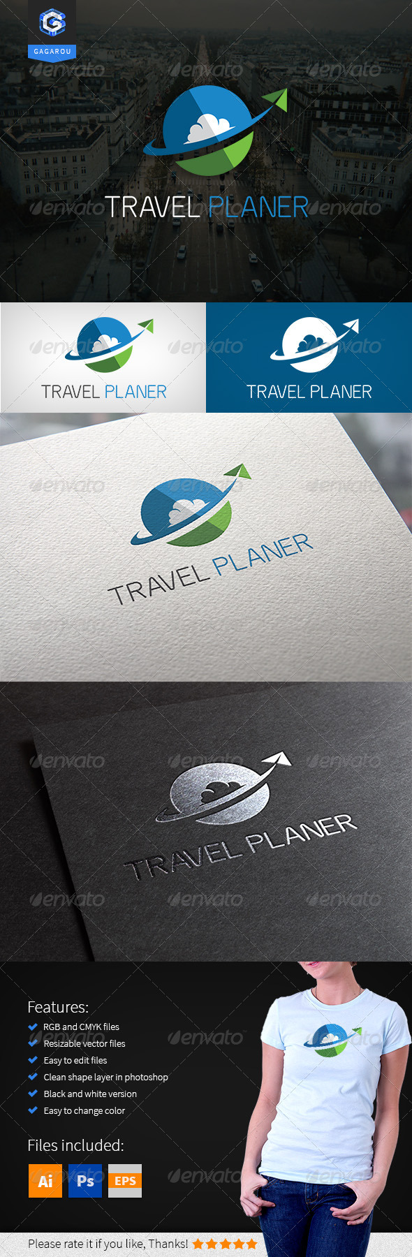GraphicRiver Travel Planer Logo 8307977