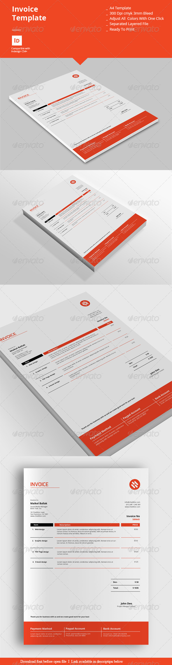 GraphicRiver Invoice Templates 8308624