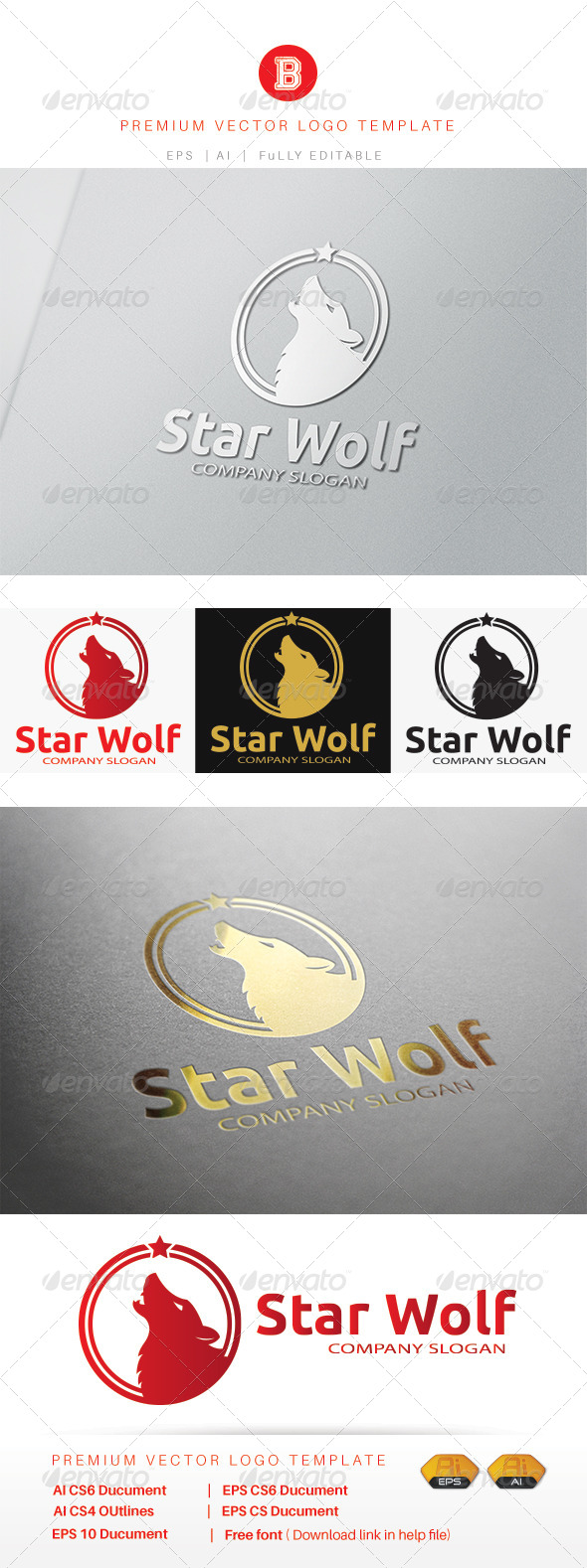 GraphicRiver Star Wolf 8309051