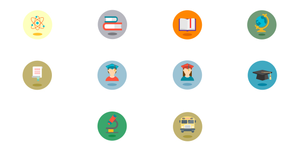 School Animated Icons PACK 1 (Elements)