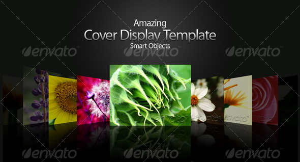 Amazing Cover Display Template - Miscellaneous Print Templates