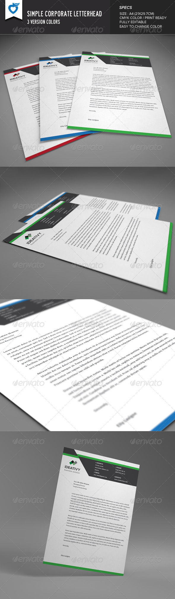 GraphicRiver Simple Corporate Letterhead 8312915