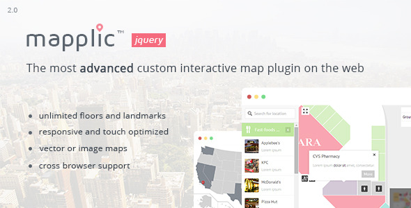 Mapplic Custom Interactive Map jQuery Plugin