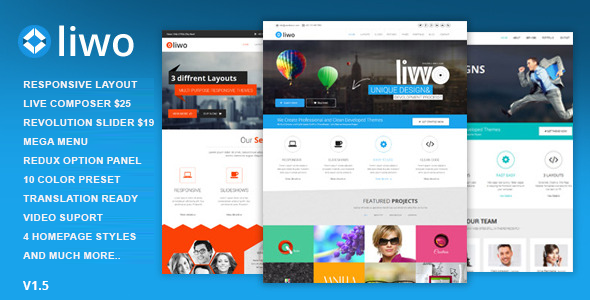 Liwo - MultiPurpose WordPress Theme - Creative WordPress
