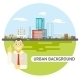 Geek Businessman Urban Landscape City Real Estate  - GraphicRiver Item for Sale