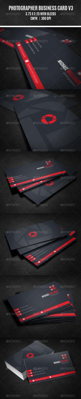GraphicRiver Photographer Business Card V3 8313318