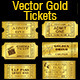 Golden Tickets Templates Set - GraphicRiver Item for Sale