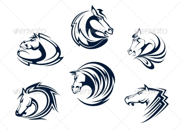 GraphicRiver Horse Mascots and Emblems 8313802