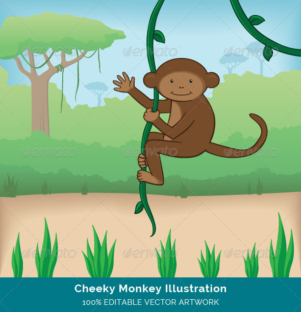 GraphicRiver Cheeky Monkey Illustration 8295426