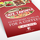 Cafe Takunya Flyer & Menu - GraphicRiver Item for Sale