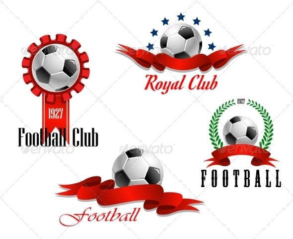 GraphicRiver Four Football and Soccer Emblems 8314503
