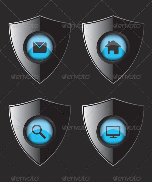 GraphicRiver Shield Web Flat Icons 8314506