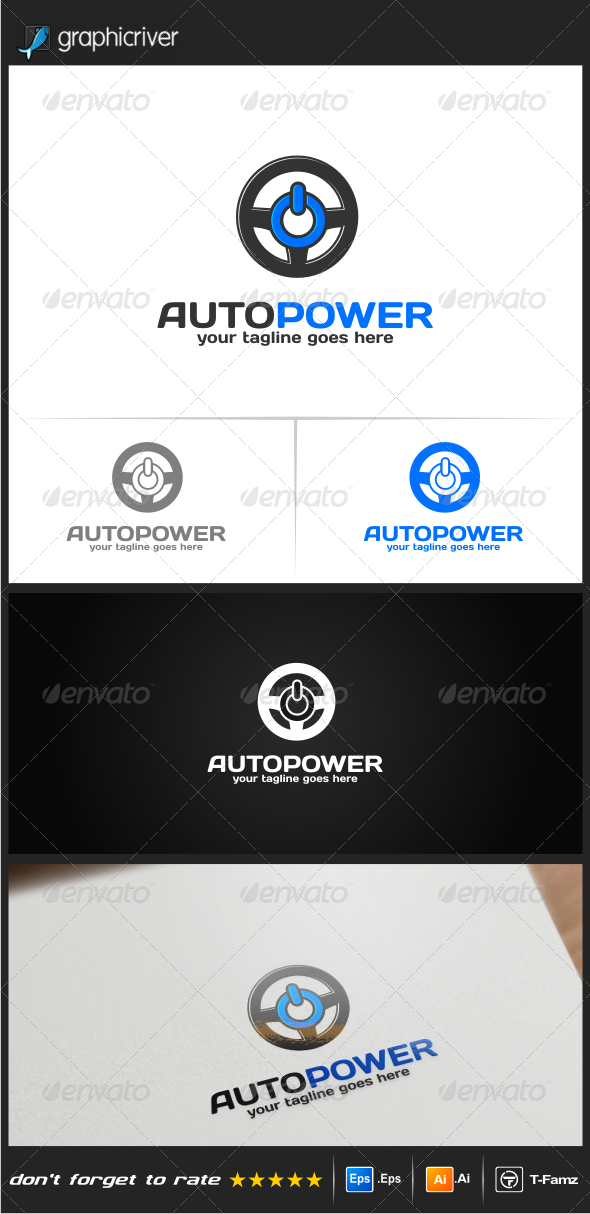 GraphicRiver Auto Power Logo Templates 8314611