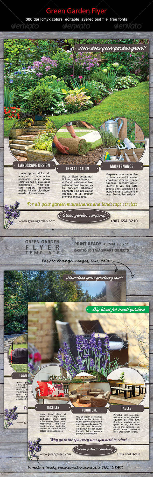 GraphicRiver Green Garden Flyer 8314613