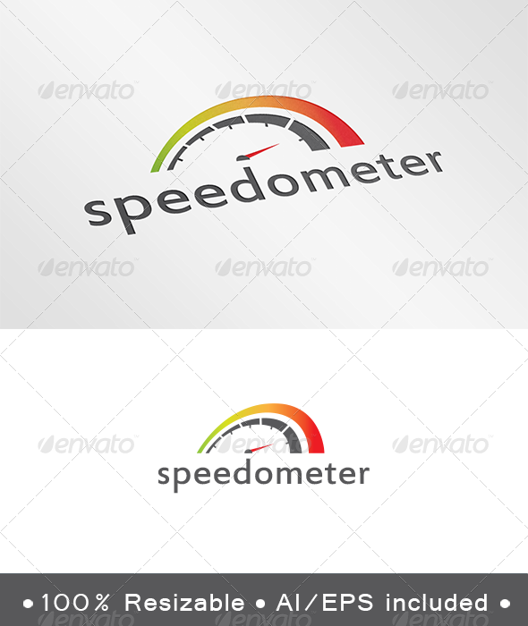 GraphicRiver Speedometer Logo 4046082