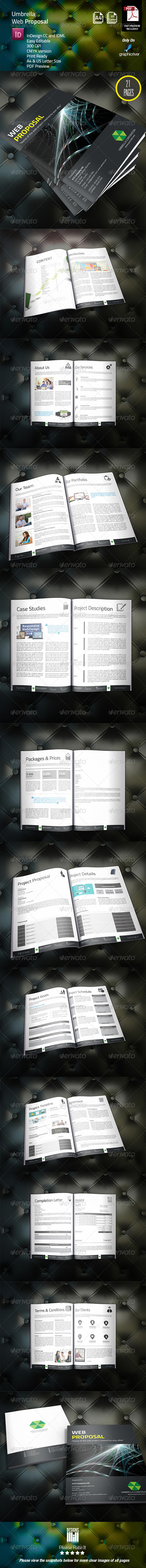 GraphicRiver Umbrella Web Proposal 8314999