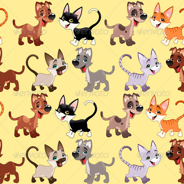 GraphicRiver Cats and Dogs Background 8315072