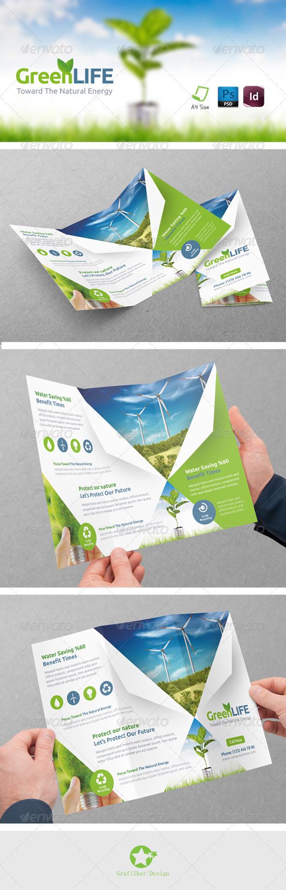 GraphicRiver Green Energy Tri-Fold Templates 8315384