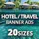 Hotel - Travel Web Ad Marketing Banners - GraphicRiver Item for Sale