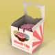 One Piece Cupcake Box Mockup - GraphicRiver Item for Sale