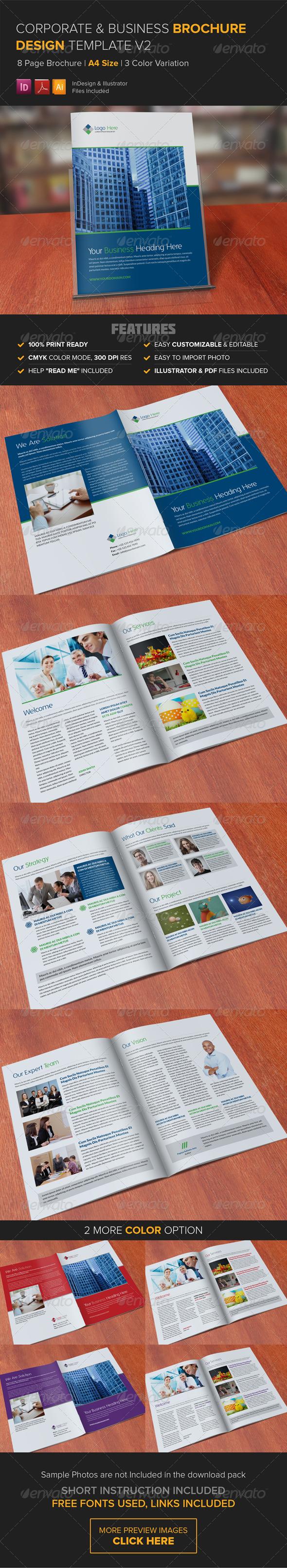 GraphicRiver Corporate Multipurpose Brochure Template v2 8315636