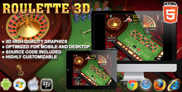 CodeCanyon 3D Roulette HTML5 Casino Game 8315639