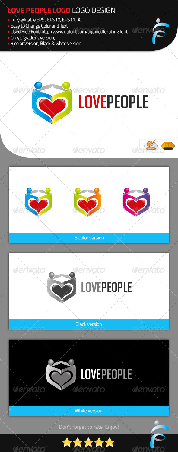 GraphicRiver Love People Logo 8315647